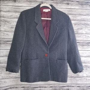 Vintage Jones New York Gray Wool Blazer Jacket